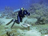 生病的潜水员 — 图库照片