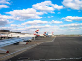 Clouds above Heathrow Airport — Stock Photo