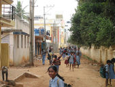 Bangalore School Children — Stock Photo