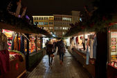 An aisle on the Christmas Market — Stock Photo