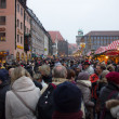 Busy Christmas Market — Stock Photo