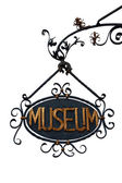 Vintage Museum Sign (isolated) — Stock Photo