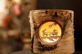 Decorative Reindeer Stump — Stock Photo