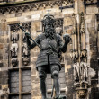Постер, плакат: Statue of Charlemagne in front of the Aachen Town Hall