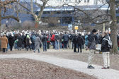Demonstrators against Stuttgart 21 — Stock Photo