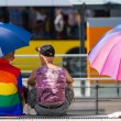 To protect from the sun with a rainbow (1) — Stock Photo