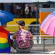 To protect from the sun with a rainbow (1) — Stock Photo #29323791