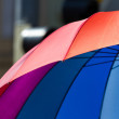 Rainbow Colors protect from Rain — Stock Photo