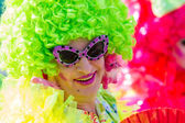 Green Drag Queen at Christopher Street Day — Стоковое фото