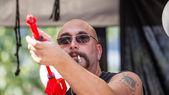 Man with a Water Gun — Stock Photo