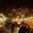 图库照片: Snow Storm at Esslingen Christmas Market