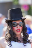 Drag Queen with top hat at Christopher Street Day — Stock Photo