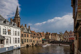 Rozenhoedkaai with tourist boats — Stock Photo