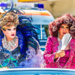 Drag Queens on a float at Christopher Street Day — Стоковая фотография