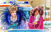 Drag Queens on a float at Christopher Street Day — Stock Photo