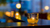 Candle in a Glass — Stock Photo