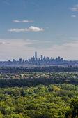 Skyline of Lower Manhattan on a sunny day — Stock Photo