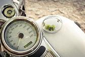Old motorcycle speedometer — Stock Photo