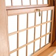 Постер, плакат: Wood Double Hung Windows traditional American Window