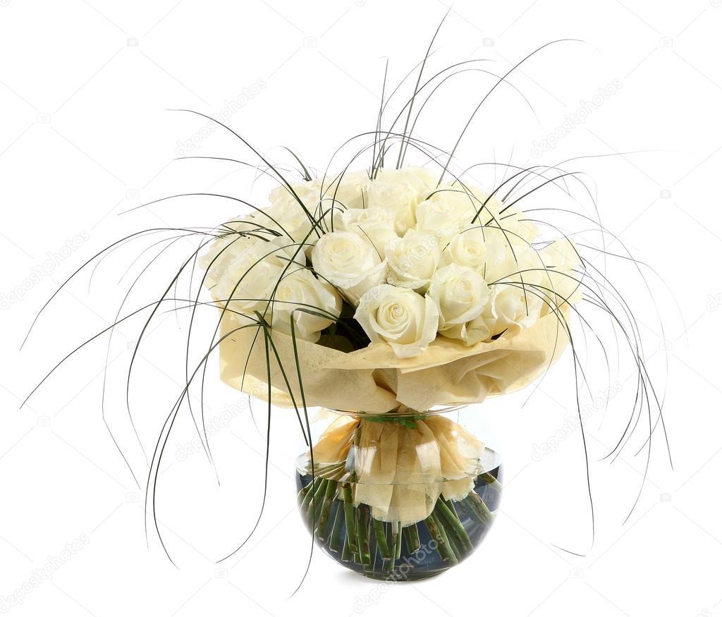 ein gro er strau wei e rosen einen riesigen strau creme rosen florale kompositionen mit. Black Bedroom Furniture Sets. Home Design Ideas