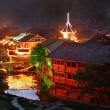 Zhaoxing Town, Liping County, Guizhou, China. Zhaoxing Dong Village is one of the largest Dong villages in Guizhou. — Stock Photo