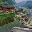 East Asia, South West China, ethnic village in mountain area. — Stock Photo