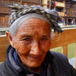 Stock Photo: Asielderly womfrom countryside of China, close-up portrait.