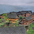 East Asia, countryside, peasant village in mountainous region of — Stock Photo