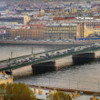 Russia, St. Petersburg, a drawbridge over Neva river. — Stock Photo