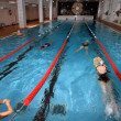 Stock Photo: Interior public indoor swimming pool, health improving swimming