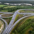 Stock Photo: Aerial View of Overpass, Ringway, aerial photo