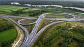 Aerial View of Overpass, Ringway, aerial photo — Stock Photo