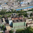 Постер, плакат: Aerial view of industrial zone city and old power plant