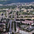 Aerial view of modern building in city northern Europe. — Stock Photo