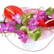 Stock Photo: Floral composition with orchids and anthurium, bouquet of flower