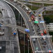 Stock Photo: Top View On Construction Of Ring Road Around Saint-petersburg, Russia.