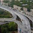 Stock Photo: Vehicular Traffic On Newly Built Roundabout Ring Road Around Saint-petersburg.