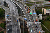 Top View On Construction Of Ring Road Around Saint-petersburg, Russia. — Stock Photo