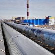 Outdoor pipeline near heat and power plant — Stock Photo
