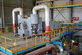 Turbina de vapor gira generador en la sala de turbinas — Foto de Stock