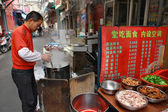 Small outdoor eatery in the open air, Shanghai, China. — Stock Photo