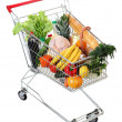 Cart full of food, isolated image on white background — Stock Photo #47834833
