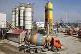 Mixed concrete batching plant — Stock Photo