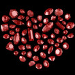 Royalty-Free Stock Photo: Heart from red diamonds
