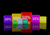 Collection of discount numbers — Foto Stock