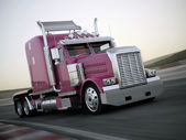 Pink truck — Stock Photo
