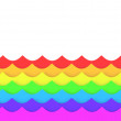 Rainbow waves — Stock Photo