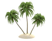 Island with palm trees — Stock Photo