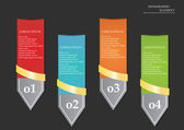 Arrow banner set design — Vector de stock