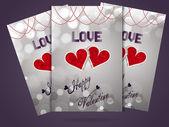 Valentine day brochure — Stock Vector